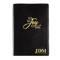 JDM Joy Bible (KJV/AMP Large Print - Font Size 10-point - Leather)